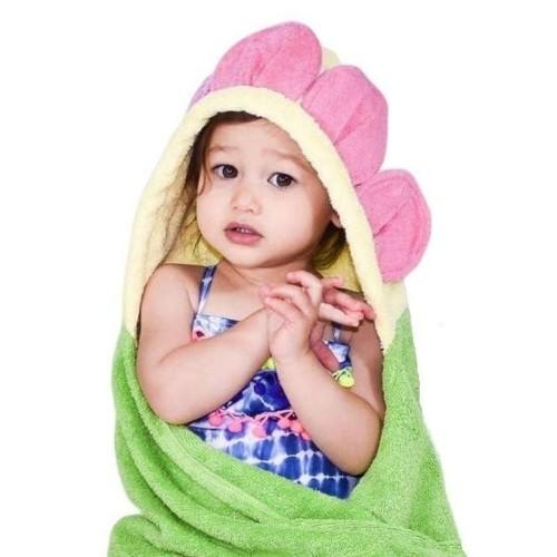 Flower Hooded Bath Towel