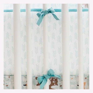 Aqua and White Arrow Crib Bumper