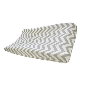 Grey Chevron Changing Pad Cover