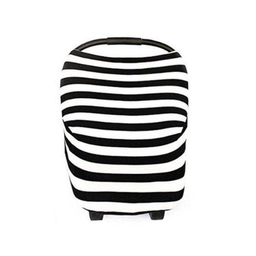 Black Stripe Nursing & Car Seat Cover
