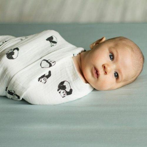 Panda Swaddle & Bath Gift Set