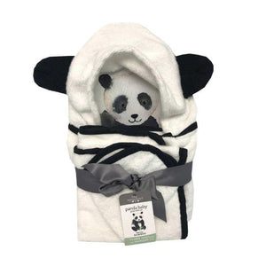Panda Hooded Bath Towel Set