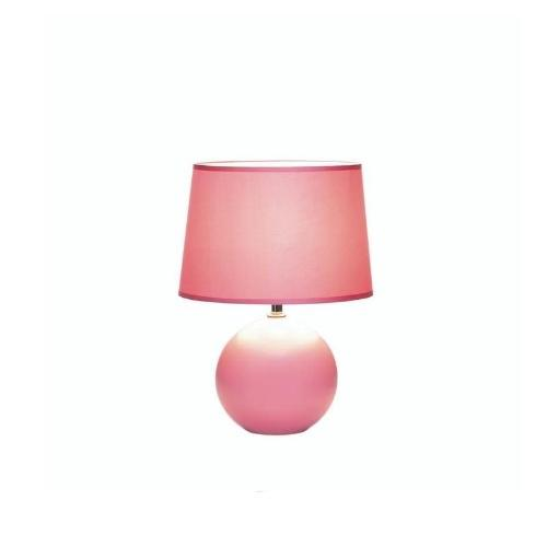 Classic Pink Round Base Lamp