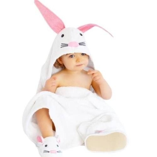 Rabbit Hooded Bath Towel