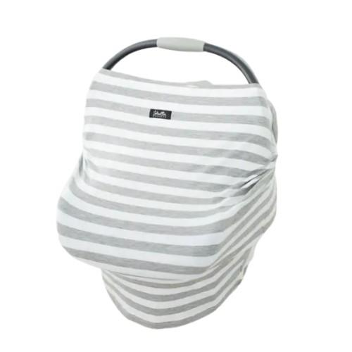 Heather Grey Striped Multi Cover