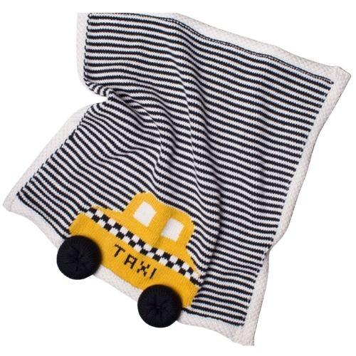 Yellow Taxi Baby Security Blanket