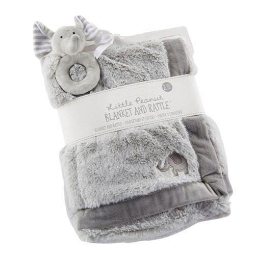 Elephant Blanket and Rattle Set