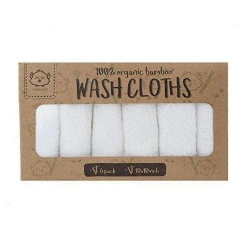 White Organic Bamboo Washcloths