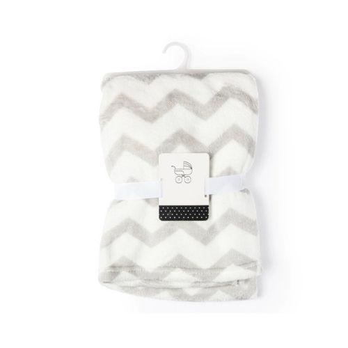 Zigzag Fleece Stroller Blanket