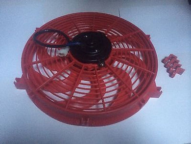 14 INCH 250W 12v LOW PROFILE RED HIGH PERFORMANCE THERMO FAN