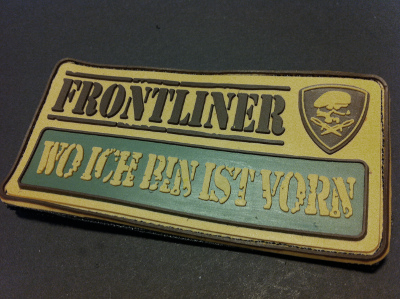 "WO ICH BIN IST VORN ""FRONTLINER-Collection"" Patch"