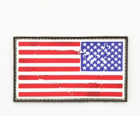 US Flag Patch - Reverse (Raised)