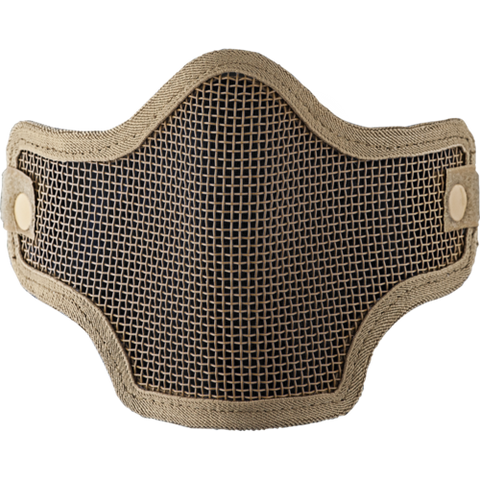 2G Wire Mesh Tactical Mask - Tan