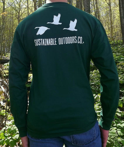 SOC Forest Green Long Sleeve T-Shirt