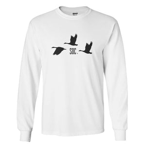 SOC Men's Long Sleeve Tee-White