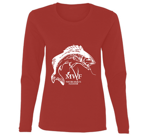 MWF Ladies Fish Logo Long Sleeve (Dark Colours)