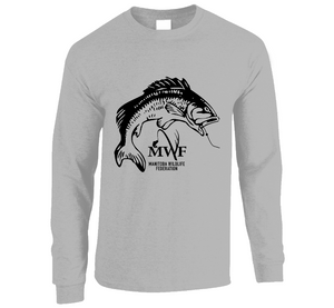 MWF Mens Fish Logo Long Sleeve (Light Colours)