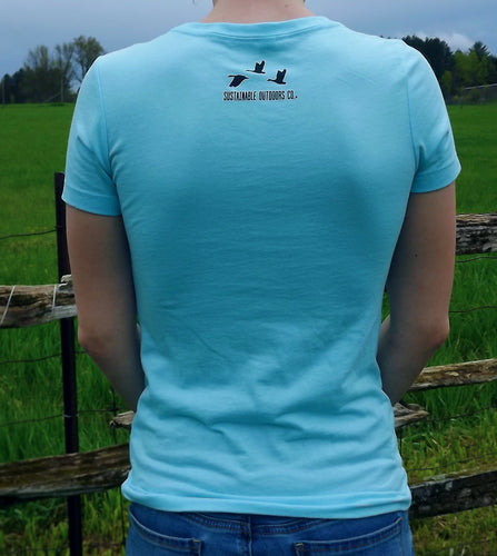 SOC Sky Blue Women's V-Neck T-Shirt