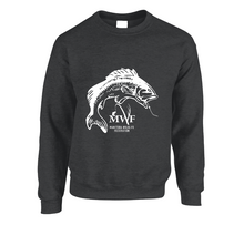 Load image into Gallery viewer, MWF Fish Logo Crewneck (Dark Colours)