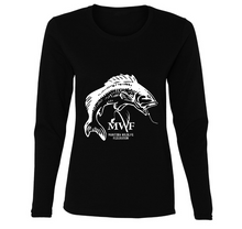 Load image into Gallery viewer, MWF Ladies Fish Logo Long Sleeve (Dark Colours)