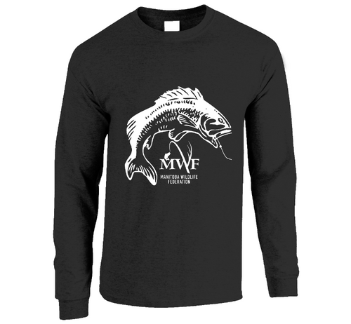 MWF Mens Fish Logo Long Sleeve (Dark Colours)