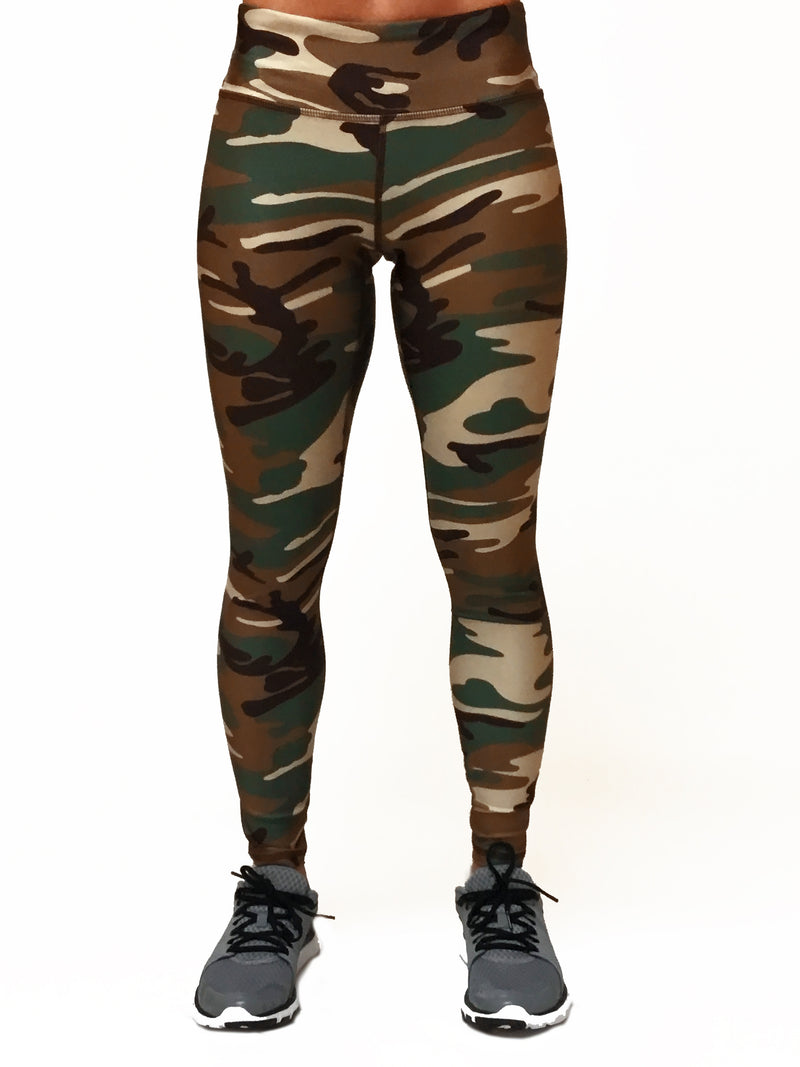Green Camo - Wide band Capri