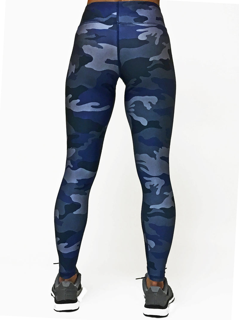 Blue Camo - Wide band Capri