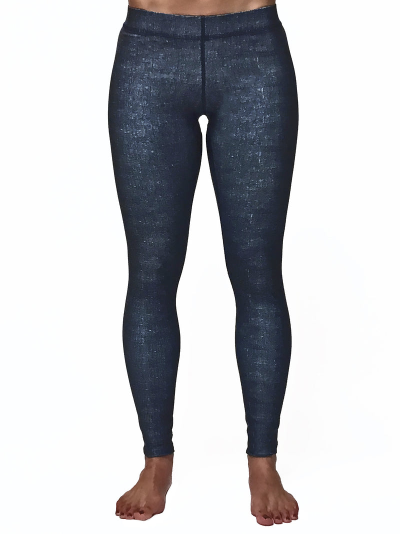 Distressed Solid Denim - Wide band