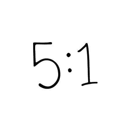 """5:1"" Temporary Tattoo Image"