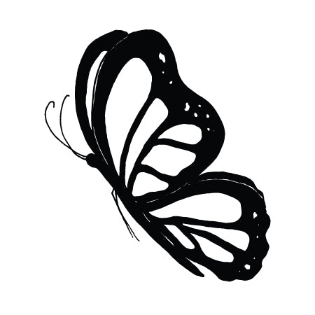 Embrace Discomfort Butterfly Temporary Tattoo Image