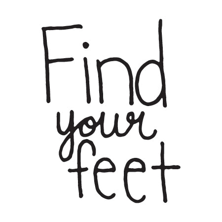 """Find Your Feet"" Temporary Tattoo Image"