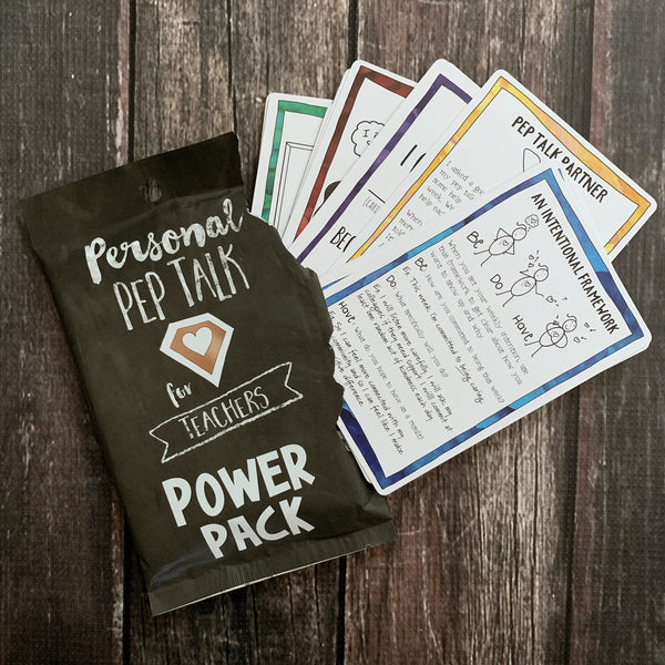 expansion pack for the personal pep talk for teachers strategy card deck