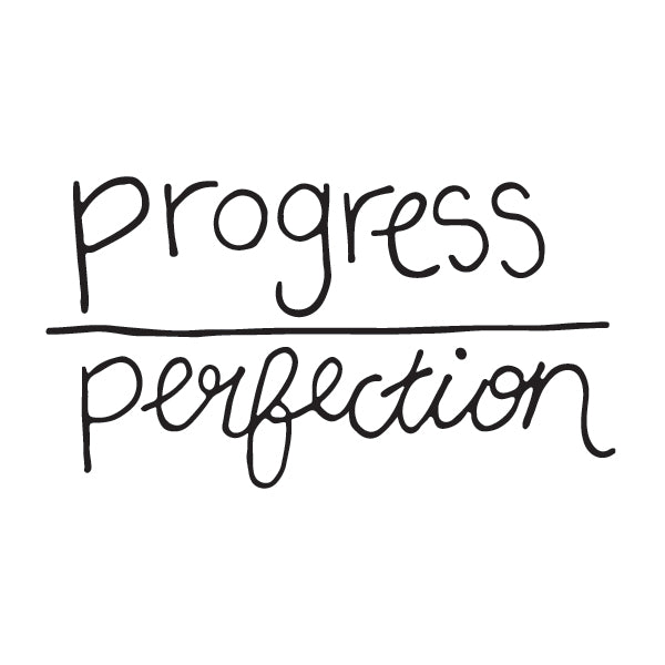 Progress Over Perfection Temporary Tattoo Image