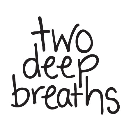 """two deep breaths"" Temporary Tattoo Image"