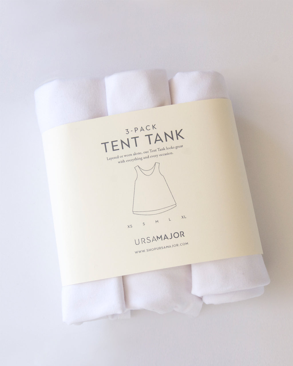 3-Pack Tent Tank / White