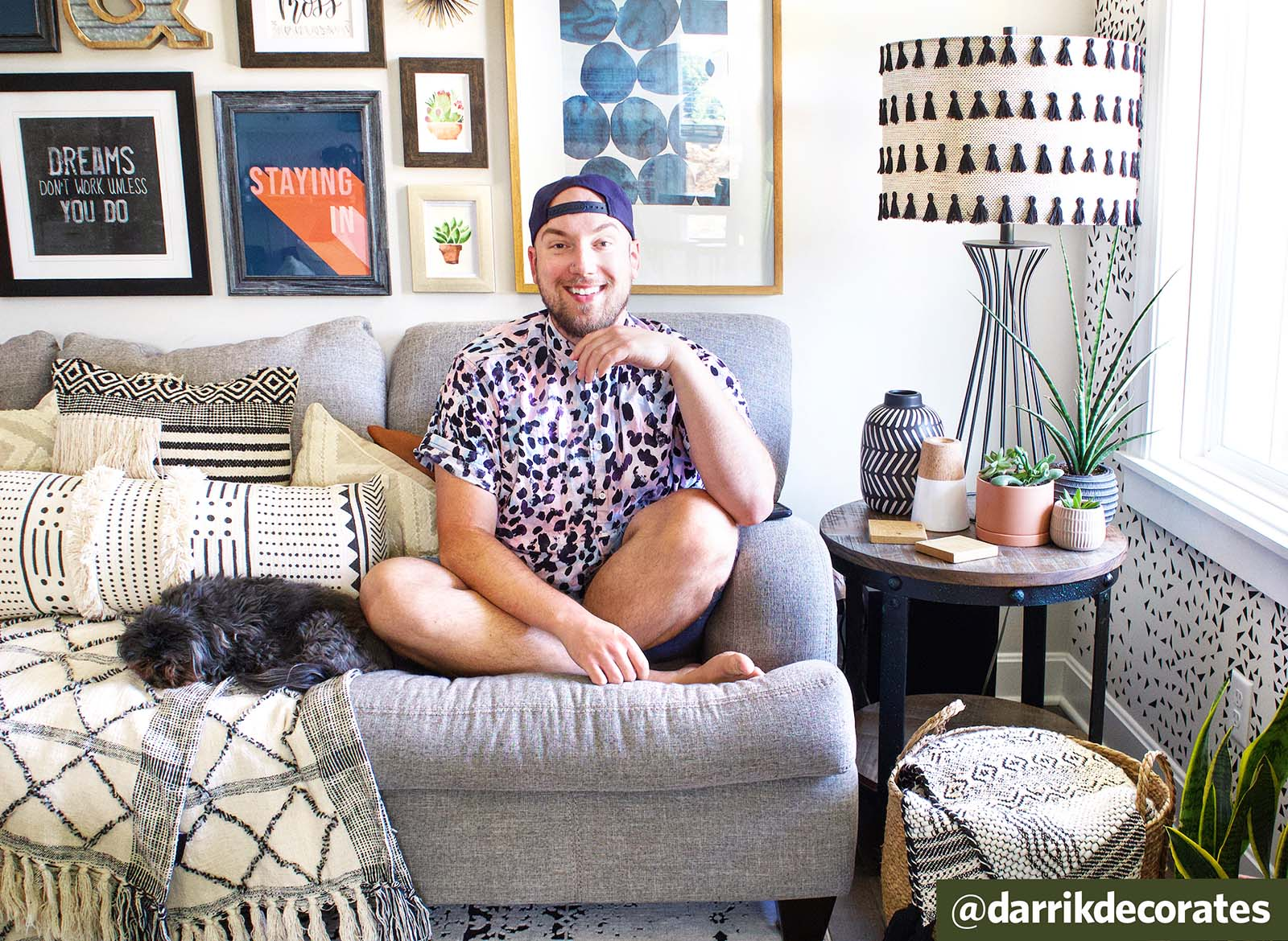 Q&A: Creating Gallery Walls with Plants with @darrikdecorates