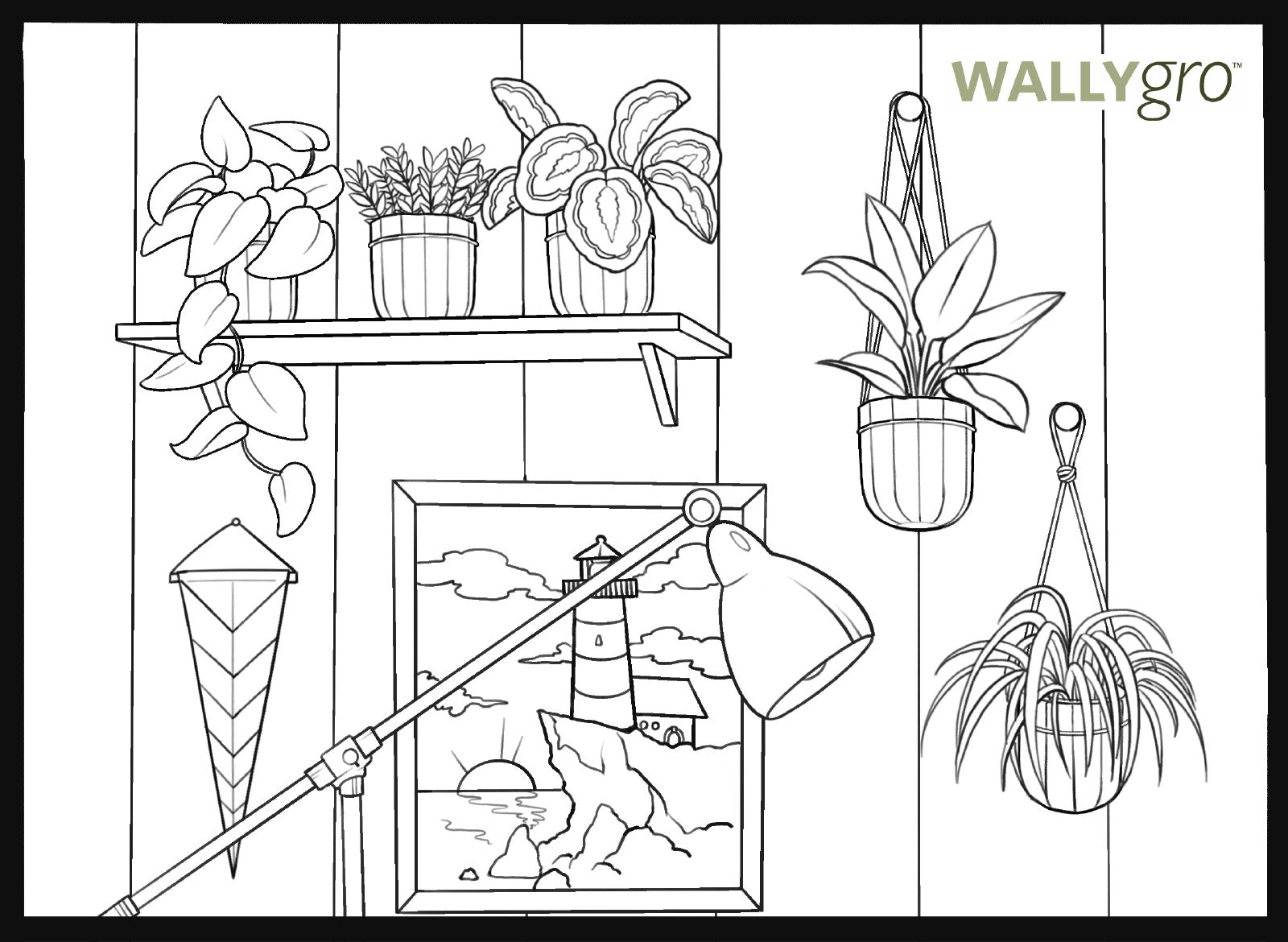 Activity: Relaxing Coloring Book Pages, Wally Loop