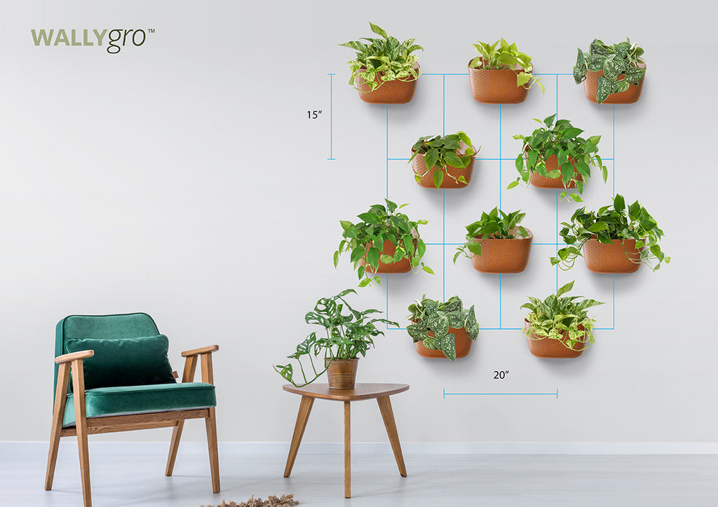 Staggered 10: Wally Eco Plant Wall Spacing