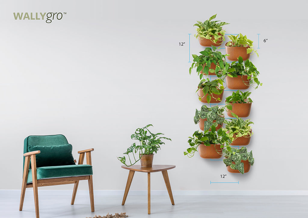 Offset Vertical 10: Wally Eco Plant Wall Spacing