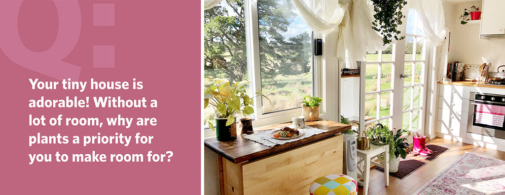 Your tiny house is adorable! Without a lot of room, why are plants a priority to make room for?