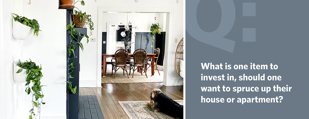 What is one item to invest in, should one want to spruce up their house or apartment?