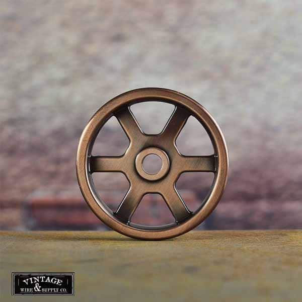 The Crane Copper Wheel Industrial Chic Wall Mount