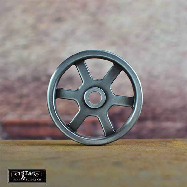 The Crane Nickel Wheel Industrial Chic Wall Mount