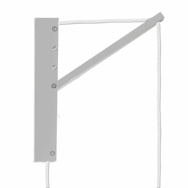 Pinocchio Adjustable Wall Mount in White