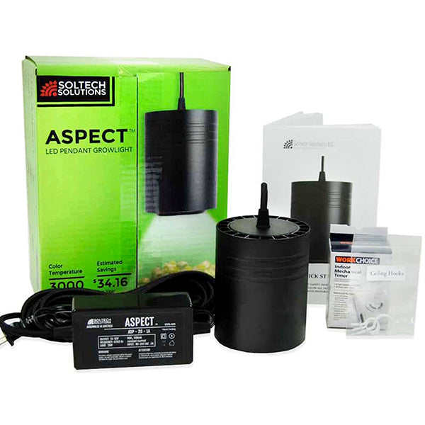Small Black 20 Watt Aspect Pendant Light with Packaging