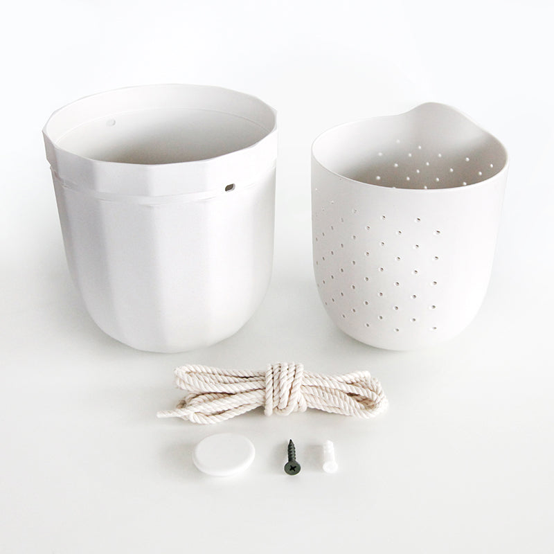 Loop Hanging Planter in White