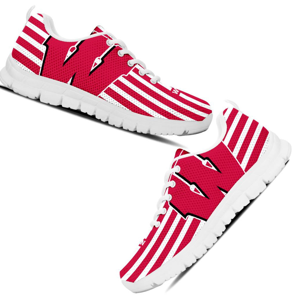 W Wisconsin Collector Running Shoes DHL