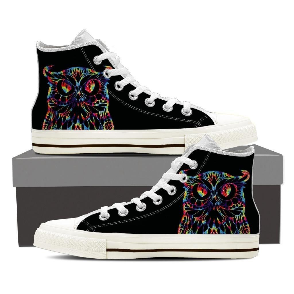 Colorful Owl Ladies High Top
