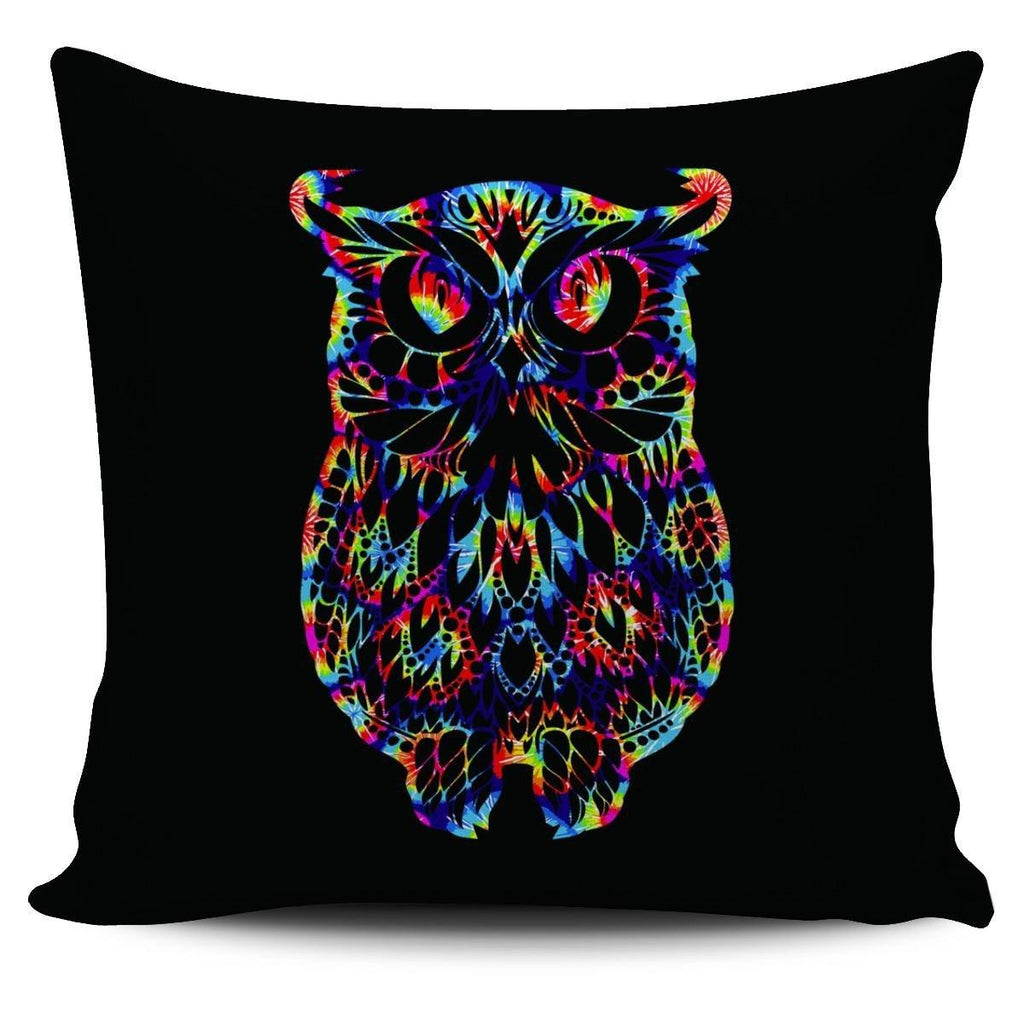 Colorful Owl Pillowcase