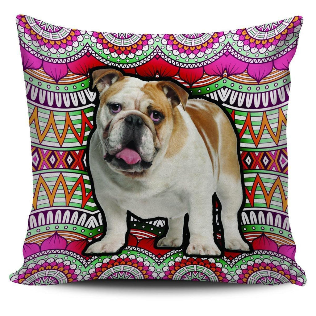"Boho Bulldog 18"" Pillowcase"